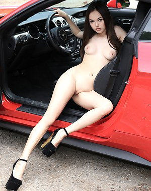 Remarkable, cars and girls en poster nude