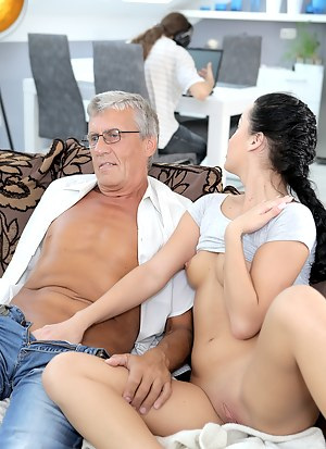 girl man Nude with old